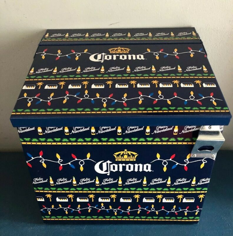 (L@@K) Corona Beer Metal Indoor Outdoor Patio Bottle Can Cooler Game Room NEW