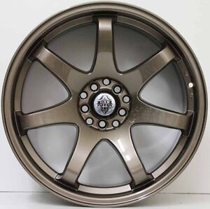 18 inch HR Racing  556 Lightweight Wheels  BRONZE SUITS MOST LATE MOD JAP CARS