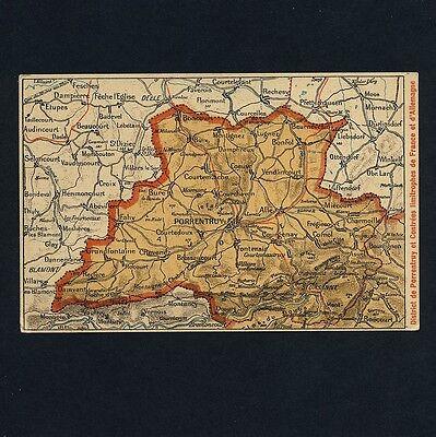 Schweiz PORRENTRUY Pruntrut Jura / Landkarte Carte * AK um 1910 Lithografie