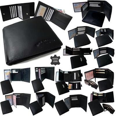 Leder Tri-fold Brieftasche (Portemonnaie Herren echt Leder Geldbörse Geldbeutel Portmonee Brieftasche PV12*)