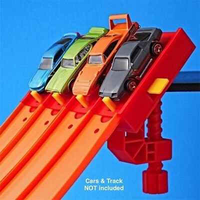 4-Lane Start Gate w/ Clamp (For Hot Wheels Cars & Track) Raceway