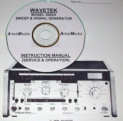 Wavetek 2002a Sweep Signal Generator Instruction Manual Operating Service