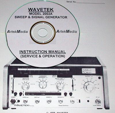 Wavetek 2002a Sweep Signal Generator Instruction Manual Operating Service