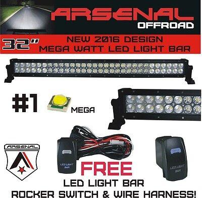 "#1 32"" Arsenal Offroad LED Light Bar 30"" of LED's Flood/Spot Combo Beam-MEGA WAT"