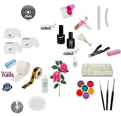 Kit Ricostruzione Unghie Set Nail Art  4 Gel UV + primer  top coat  & dvd  usato  Bivio Donnici