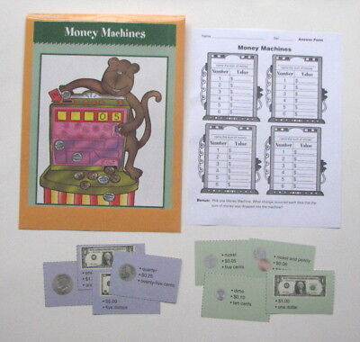 Evan Moor Math Center Resource Game Function Tables with Money Amounts