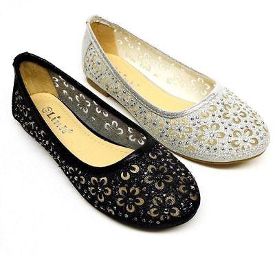 Baby & Toddler Girls' Fashion Ballet Flat Dress Shoes size 9, 10, 11, 12 - Ballet Flats Toddlers