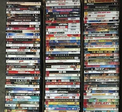 Wholesale Lot of 100 Used DVD Mostly Rental Assorted No Duplicate Bulk Free S&H