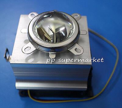 20-100w Led Aluminium Heat Sink Cooling Fan44mm Lens Reflector Bracket Kit