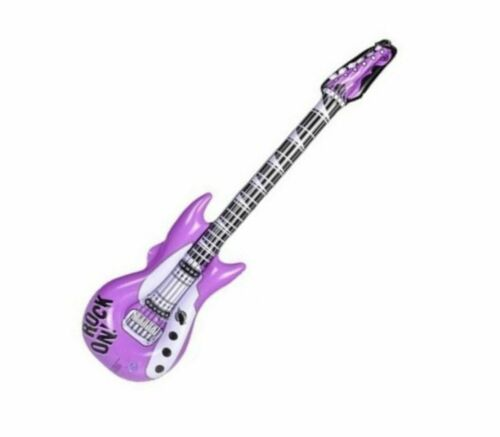 """42"""" Purple Rock on Guitars Inflatable -  Inflate Blow Up Toy Party Decoration"""
