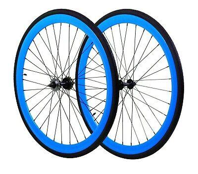 blau//blau Galano Fixie Laufradsatz 700c Singlespeed Fixed Gear Laufr/äder Flip Flop Blade