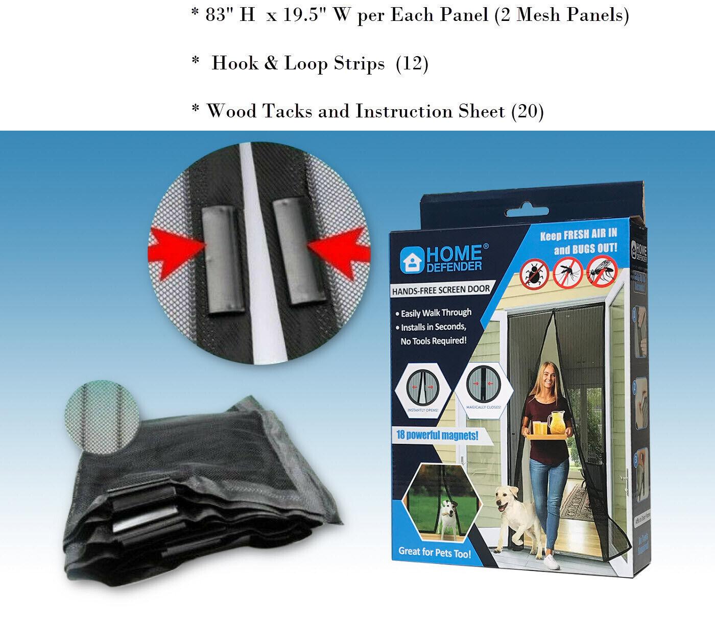 magic mesh hands free screen door magnets