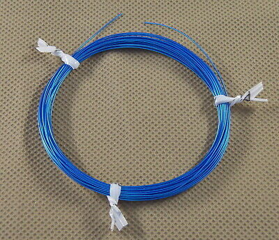 10 Ft 30 Awg Mil Spec Kynar Silver Plated Wire Wrap Solid Alpha Blue M818223