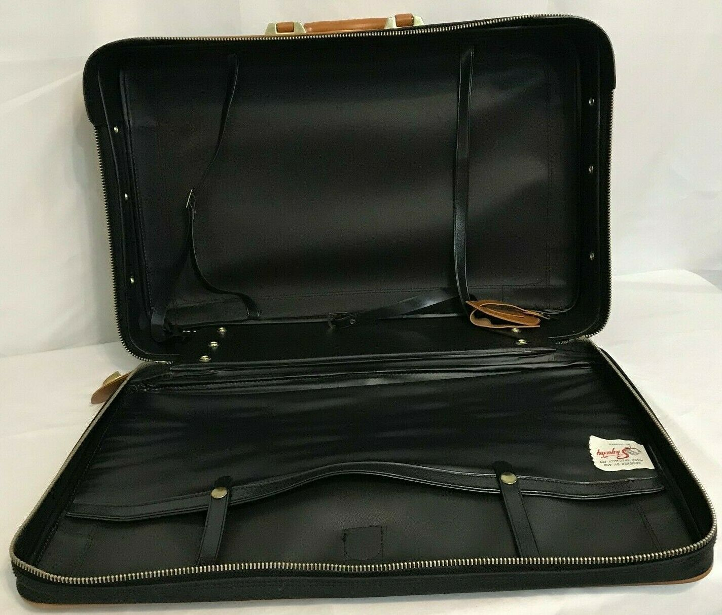 Skyway 747 Carry-on Suitcase Blue Brown Hartmann Luggage 1980s 22 x17 x7  - $30.00