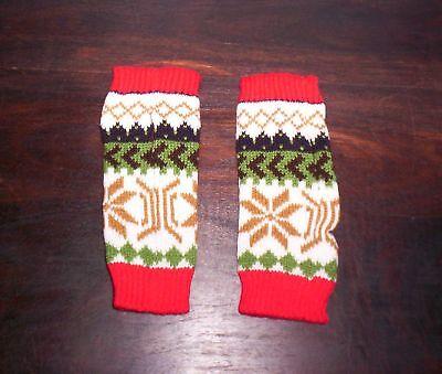 schöne warme Handstulpen Armstulpen Stulpen Winter weihnachtliches Design