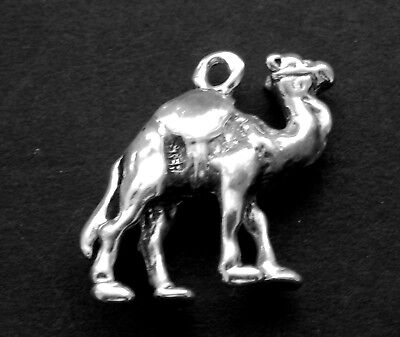 "Sterling Silver Charm -Camel in 3/D  ""Ship of the Desert"""
