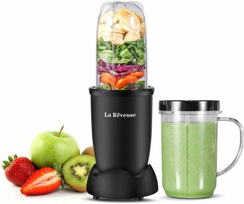 La Reveuse Personal Blender 250W for Kitchen Shakes Smoothies Mixer 16 oz Black