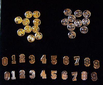 Team Player Number Uniform Jersey Letterman School Sport Game Ball Collar Pin ED