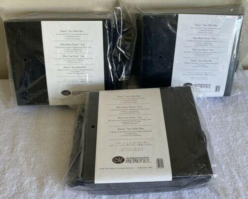 3 BRAND NEW Pkgs Creative Memories Power Sort Mini Box 2004 Solid Black