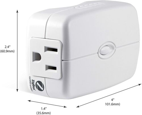 GE Zigbee Smart Switch Plug-In, 2-Outlet Lighting Control, No Wiring Required