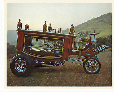 "Boot Hill Express HEMI Hearse Coffin 1970s PROMO card 8"" x 10"" - true vintage"