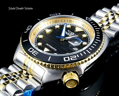 New Invicta 47mm Pro Diver Sea Wolf Automatic Gold Two Tone Bracelet Watch !