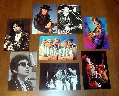NEW 8 unused Postcard LOT Bob Dylan Beach Boys Stevie Ray Vaughan Carlos Santana