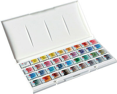 White Night Artists Watercolour set 36 whole pans, plastic box