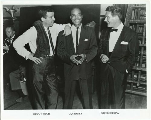 Jazz Drummers Buddy Rich  Jo Jones Gene Krupa 1950s vintage 8x10 photo
