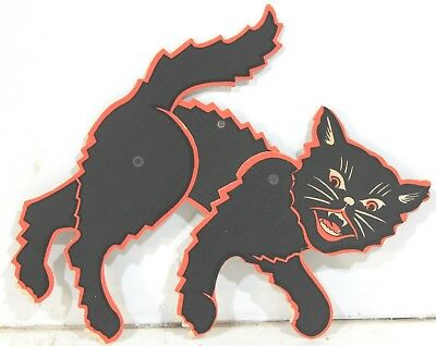 3 Different Mechanical Halloween Growling Cats c1950-60s - Different Halloween Decorations