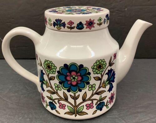 "Midwinter Country Garden Teapot Tea Pot w/ Lid ENGLAND VTG  5 1/4"" Tall Floral"