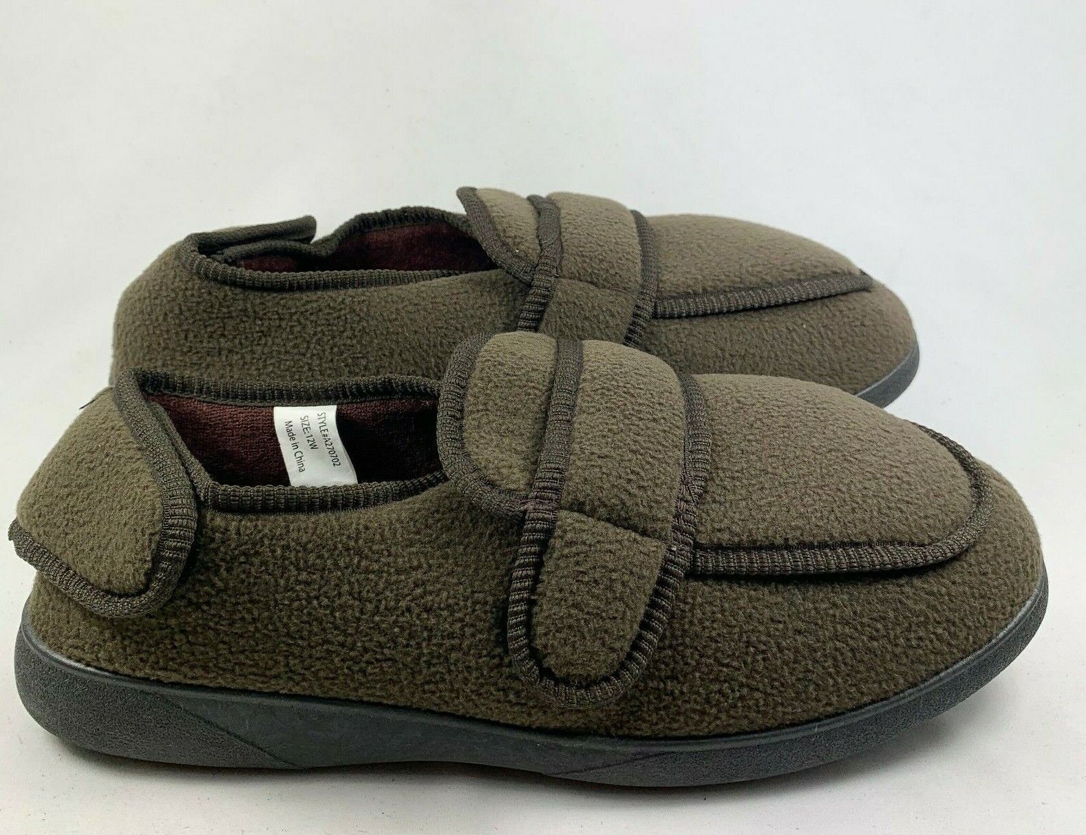 Gold Toe Men's Jude Orthopedic House Slippers Brown Size 12