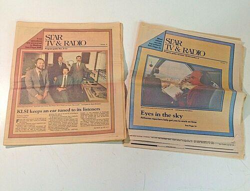 Vintage 1983-84 Lot of 2 KANSAS CITY STAR TV & RADIO Newspaper Insert Shows KCMO