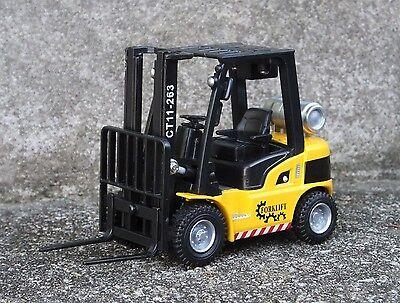 Forklift w 10 Premium Custom Dual Slat Pallets 1/24 Scale G