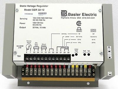 BASLER ELECTRIC SSR 32-12 STATIC VOLTAGE REGULATOR 9185900100