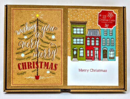 12 Christmas Cards & Envelopes Included