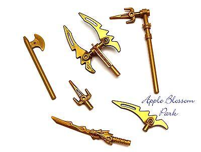 Lego Ninjago Ninja Minifig Golden Weapon Set W/minifigure Gold Dragon Sword
