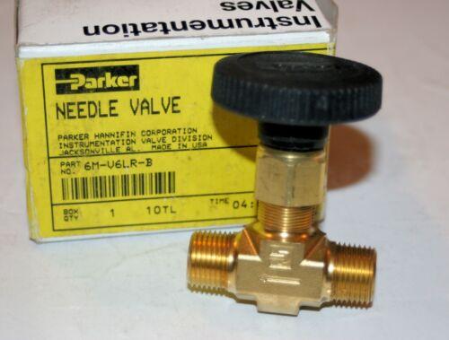 """3/8"""" MNPT  Brass Needle Valve (3000 Psi) PARKER 6M-V6LR-B"""