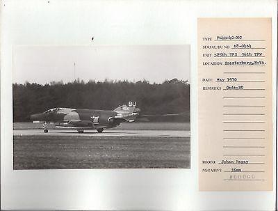 1970 McDonnell Phantom SOESTERBERG Netherlands JOHAN RAGAY 525th TFS 36th TFW