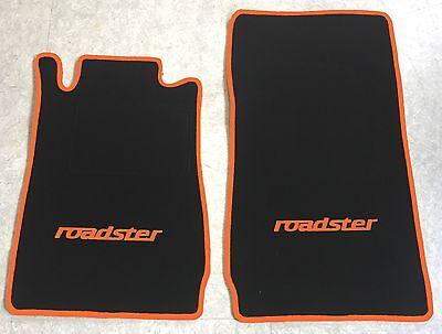 Autoteppich Fußmatten für Mercedes SLK Typ R170 schwarz orange 2teilig Neuware