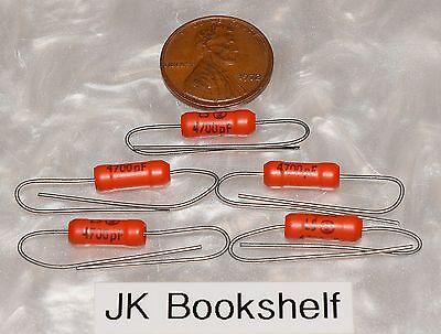 5 Genuine Sprague 192p 4700pf .0047uf 200v Orange Pacer Capacitors Nos