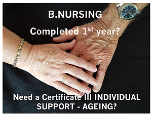 B.Nursing, Need a Certificate III Individual Support Brisbane City Brisbane North West Preview