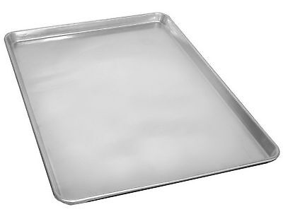 "2 Commercial Grade 18"" x 26"" Full Size Aluminum Sheets Pans Baking Bread Cookie"