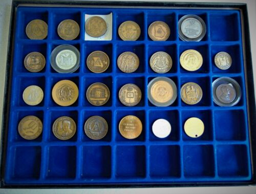 MASONIC COLLECTION OF 26 GRAND LODGE COMMEMORATIVE COINS