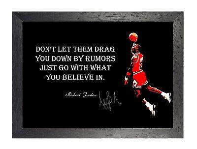 Michael Jordan Rumors Motivation Zitat Poster Basketball Sport Signatur Foto