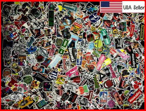 1000 New Random Skateboard Stickers bomb Laptop Luggage Decals Dope Sticker Lot