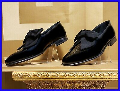NEW VERSACE BLACK PATENT LEATHER LOAFER SHOES 43 - 10