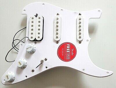 NEW PICKGUARD FENDER SQUIER Affinity loaded STRATOCASTER HSS blanc guitare STRAT