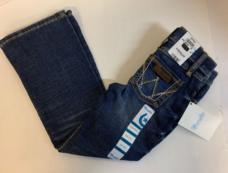 NEW Wrangler Girls Jeans Style: 09MWGMS Size: 6 Regular Low Rise