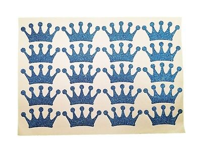 Glitter Royal Blue Crown stickers for Royal Its A Prince Baby Shower 40 - Prince Decorations For Baby Shower